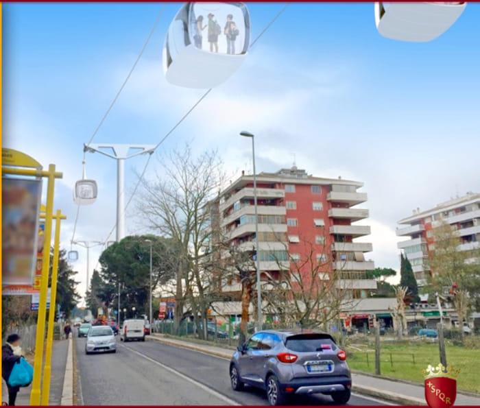 Funivia di roma progetto costi e utilit della linea for Cabina nelle montagne della carolina del nord
