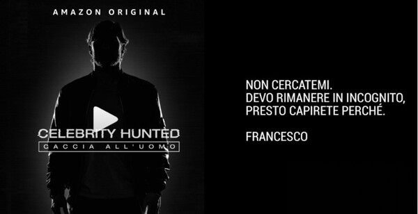 Francesco Totti a Celebrity Hunted, il reality di Amazon